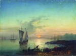 Alexey Petrovich Bogolyubov (16 March 1824 � 3 February 1896) Sunset on the beach Oil on canvas 47 x 64 cm Hersonky Regional Art Museum of A.A.Shovkunenko, Russia