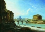 Alexey Petrovich Bogolyubov (16 March 1824 – 3 February 1896) Castle Sant'Angelo in Rome Oil on canvas, 1859 38 x 52 cm Nizhni Novgorod Art Museum, Russia