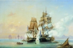 Alexey Petrovich Bogolyubov (16 March 1824  3 February 1896) Seizure of the boat \&quot;Mercury\&quot; Swedish frigate \&quot;Venus\&quot; 21 May 1789 Oil on canvas, 1851 72 x 112 cm Central Naval Museum, St. Petersburg, Russia