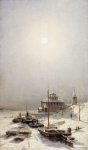 Alexey Petrovich Bogolyubov (16 March 1824 – 3 February 1896) Winter in Borisoglebsk Oil on canvas 119 x 71 cm Ekaterinburg Museum of Fine Arts, Russia