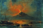 Alexey Petrovich Bogolyubov (16 March 1824 � 3 February 1896) The eruption of Vesuvius Oil on canvas 29 x 44 cm Buryat republic Art Museum of C. S. Sampilova, Russia
