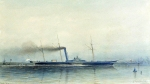 "Alexey Petrovich Bogolyubov (16 March 1824 – 3 February 1896) Imperial steam-yacht ""Alexandria\"" Watercolor on paper, 1852 20 x 35.3 cm Central Naval Museum, St. Petersburg, Russia"