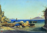 Alexey Petrovich Bogolyubov (16 March 1824  3 February 1896) Italian view Etude Canvas, oil 28 x 39 cm North Ossetian republic Art Museum of M.S. Tuganov