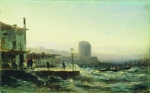 Alexey Petrovich Bogolyubov (16 March 1824 – 3 February 1896) Baku. Embankment Oil on canvas, 1861 20.8 x 33.8 cm The State Russian Museum, St. Petersburg, Russia