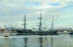 Alexey Petrovich Bogolyubov (16 March 1824  3 February 1896) Clipper \&quot;Rogue\&quot; in Le Havre Oil on canvas, 1887 27 x 41 cm Central Naval Museum, St. Petersburg, Russia