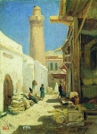 Alexey Petrovich Bogolyubov (16 March 1824 – 3 February 1896) Baku. Street at noon Oil on canvas, 1861 33 x 25 cm The State Russian Museum, St. Petersburg, Russia