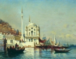 Alexey Petrovich Bogolyubov (16 March 1824 � 3 February 1896) Constantinople Oil on canvas, 1860 20.5 x 26.4 cm Private Collection
