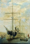 Alexey Petrovich Bogolyubov (16 March 1824 � 3 February 1896) Cruiser. 1880 Oil on canvas 71.2 x 102 cm The State of Art and Architecture, Palace and Park Museum, Gatchina, Russia