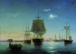 Alexey Petrovich Bogolyubov (16 March 1824 – 3 February 1896) Kronstadt raid with the ships at night Oil on canvas, 1855 66.5 x 86 cm Central Naval Museum, St. Petersburg, Russia
