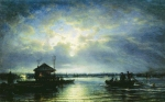 Alexey Petrovich Bogolyubov (16 March 1824 – 3 February 1896) Summer Night on the Neva River at the seaside Oil on canvas, 1875 48 x 73.5 cm The State Tretyakov Gallery, Moscow, Russia