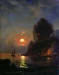 Alexey Petrovich Bogolyubov (16 March 1824  3 February 1896) Moonlit Night on the sea Oil on canvas, 1871 72.5 x 56.3 cm The State Russian Museum, St. Petersburg, Russia