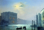 Alexey Petrovich Bogolyubov (16 March 1824 – 3 February 1896) Moonlit night. Grand Canal in Venice Oil on canvas, 1850 63.8 x 90.5 cm Museum of V.A. Tropinin and moscow artists of his time, Russia