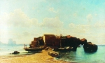 Alexey Petrovich Bogolyubov (16 March 1824 – 3 February 1896) Small harbor. Capri Oil on canvas, 1855 Private Collection