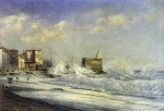 Alexey Petrovich Bogolyubov (16 March 1824 – 3 February 1896) Menton. Storm Oil on wood, 1881 48.5 x 73.2 cm Saratov State Art Museum of A.N. Radishchev, Russia