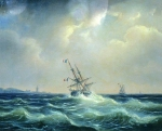 Alexey Petrovich Bogolyubov (16 March 1824 � 3 February 1896) Sea in bad weather Oil on canvas, 1871 Private Collection