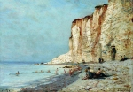 Alexey Petrovich Bogolyubov (16 March 1824 – 3 February 1896) Coast Oil on wood 18 x 24 cm