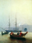 Alexey Petrovich Bogolyubov (16 March 1824 – 3 February 1896) On the Neva by the Admiralty Oil on canvas, 1860 100 x 76 cm Central Naval Museum, St. Petersburg, Russia