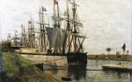 Alexey Petrovich Bogolyubov (16 March 1824 � 3 February 1896) Quay at Saint-Valery Oil on canvas, 1876