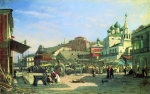 Alexey Petrovich Bogolyubov (16 March 1824 – 3 February 1896) Nizhny Novgorod. Lower Bazar Oil on canvas 31.5 x 49 cm The State Russian Museum, St. Petersburg, Russia