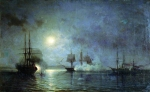 Alexey Petrovich Bogolyubov (16 March 1824 � 3 February 1896) Night attack on a 44-gun frigate
