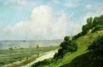 Alexey Petrovich Bogolyubov (16 March 1824 – 3 February 1896) Beach at Honfleur. Hot day. Low tide at the mouth of the River Seine Oil on canvas, 1876 48.5 x 73 cm Saratov State Art Museum of A.N. Radishchev, Saratov, Russia