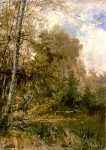Alexey Petrovich Bogolyubov (16 March 1824 – 3 February 1896) Autumn in the village Glebovo-Streshnevo Oil on canvas, 1891