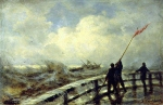 Alexey Petrovich Bogolyubov (16 March 1824 – 3 February 1896) Ostend. Dam in the storm Oil on canvas, 1870