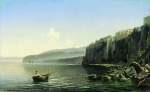 Alexey Petrovich Bogolyubov (16 March 1824 – 3 February 1896) Seashore (Sorrento) Oil on canvas, 1850 48 x 78 cm Voronezh Regional Art Museum of I.N. Kramskoy, Voronezh, Russia