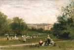 Alexey Petrovich Bogolyubov (16 March 1824 – 3 February 1896) Park Liechtenstein in Vienna Oil on wood, 1873