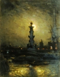 Alexey Petrovich Bogolyubov (16 March 1824 – 3 February 1896) Exchange during the night. Petersburg Oil on canvas, 1878 41 x 32.5 cm Saratov State Art Museum of A.N. Radishchev, Saratov, Russia
