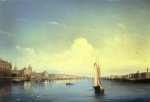 Alexey Petrovich Bogolyubov (16 March 1824 – 3 February 1896) Petersburg at sunset Oil on canvas 103 x 151 cm The State Russian Museum, St. Petersburg, Russia