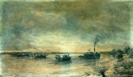 Alexey Petrovich Bogolyubov (16 March 1824 � 3 February 1896) Staging spheroconical minutes on the Danube in 1878 Charcoal on paper, 1878 40 x 58 cm Central Naval Museum, St. Petersburg, Russia