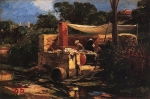 Alexey Petrovich Bogolyubov (16 March 1824 – 3 February 1896) Laundry in Pornic. France. Brittany Oil on canvas, 1876