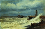Alexey Petrovich Bogolyubov (16 March 1824 – 3 February 1896) Surf in a storm Oil on canvas, 1870