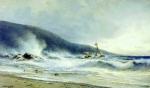 Alexey Petrovich Bogolyubov (16 March 1824 – 3 February 1896) Surf at Cape St. Martin Oil on canvas, 1854 74 x 122 cm Serpukhov Art and Historical Museum, Russia