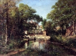 Alexey Petrovich Bogolyubov (16 March 1824 – 3 February 1896) Pond. Farm. Pornic Oil on canvas, 1867