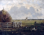 Alexey Petrovich Bogolyubov (16 March 1824 – 3 February 1896) Country Scene near The Hague Oil on canvas, 1870