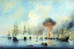 Alexey Petrovich Bogolyubov (16 March 1824 � 3 February 1896) Battle of Sinop on Nov. 18, 1853 Oil on canvas, 1860 47 x 70.5 cm Central Naval Museum, St. Petersburg, Russia