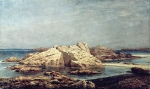 Alexey Petrovich Bogolyubov (16 March 1824 � 3 February 1896) Cliffs in Saint-Malo. Hot day Oil on canvas, 1876
