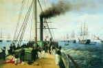 Alexey Petrovich Bogolyubov (16 March 1824 � 3 February 1896) Review of the Baltic Fleet Nicholas I on board  the
