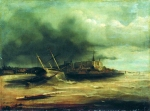 Alexey Petrovich Bogolyubov (16 March 1824  3 February 1896) Storm Oil on canvas, 1860 56.6 x 76 cm Nicholas Art Museum of V.V. Vereshchagin, Nikolaev, Ukraine