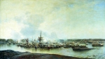 Alexey Petrovich Bogolyubov (16 March 1824  3 February 1896) Battle Gangut July 27, 1714 Oil on canvas, 1875-1877 186 x 321 cm Central Naval Museum, St. Petersburg, Russia