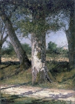 Alexey Petrovich Bogolyubov (16 March 1824 – 3 February 1896) Trunks of oaks. Pornic Oil on canvas, 1867