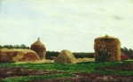 Alexey Petrovich Bogolyubov (16 March 1824 – 3 February 1896) Haystacks Oil on canvas 32.5 x 48.6 cm Nizhny Tagil Museum of Fine Arts Fine Arts, Russia