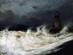 Alexey Petrovich Bogolyubov (16 March 1824 – 3 February 1896) Treport. Storm Oil on wood, 1883