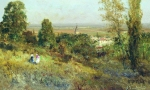 Alexey Petrovich Bogolyubov (16 March 1824 � 3 February 1896) In the outskirts of Paris. Ekuan Oil on wood, 1880 17.7 x 26.6 cm The State Tretyakov Gallery, Moscow, Russia