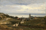 Alexey Petrovich Bogolyubov (16 March 1824 – 3 February 1896) Treport. France, Normandyr Oil on canvas, 1876