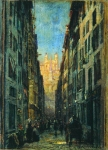 Alexey Petrovich Bogolyubov (16 March 1824  3 February 1896) A street in Rome Oil on canvas 21 x 29 cm Buryat republic Art Museum of C. S. Sampilov, Russia