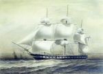 Alexey Petrovich Bogolyubov (16 March 1824  3 February 1896) Frigate \&quot;Pallada\&quot; Watercolor on paper, 1847 25.2 x 35 cm Central Naval Museum, St. Petersburg, Russia