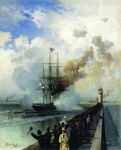 "Alexey Petrovich Bogolyubov (16 March 1824 – 3 February 1896) Frigate ""Rogue\"" Oil on canvas"
